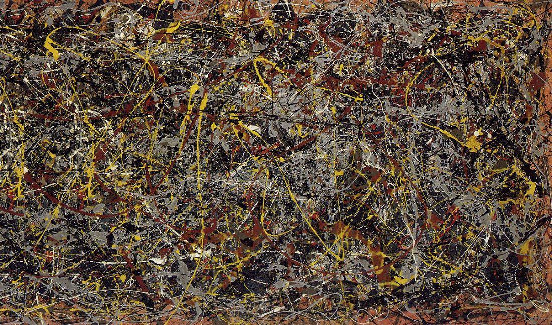 Here is a photograph of a piece of shit. Wait, sorry. This is a 100 million dollar Pollock masterpiece.